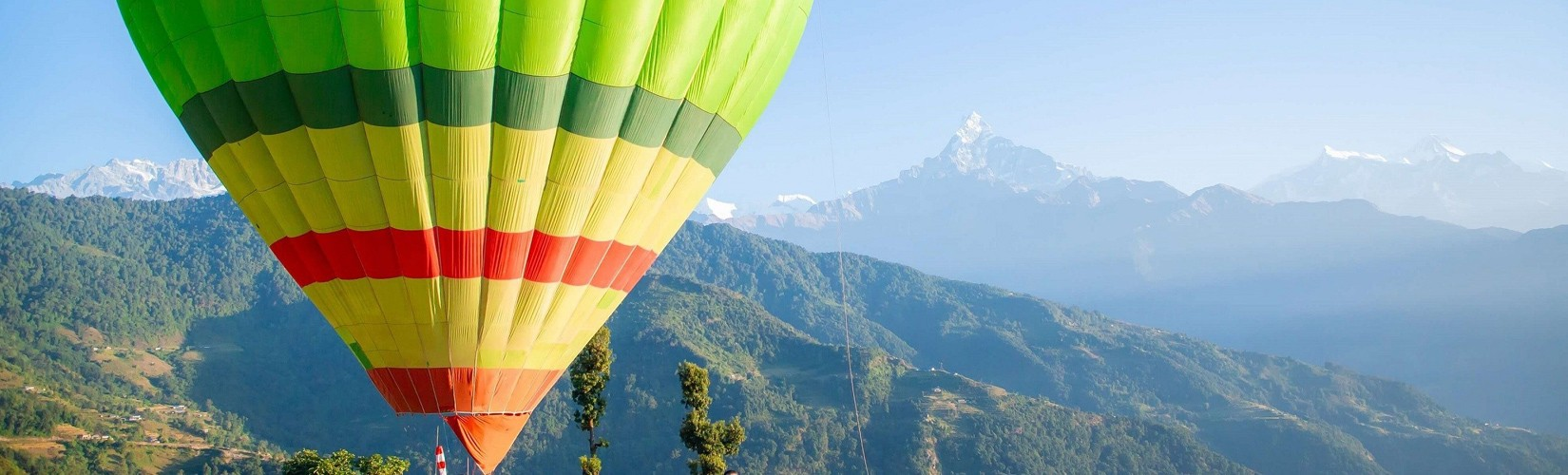 balloon in Nepal in pokhara